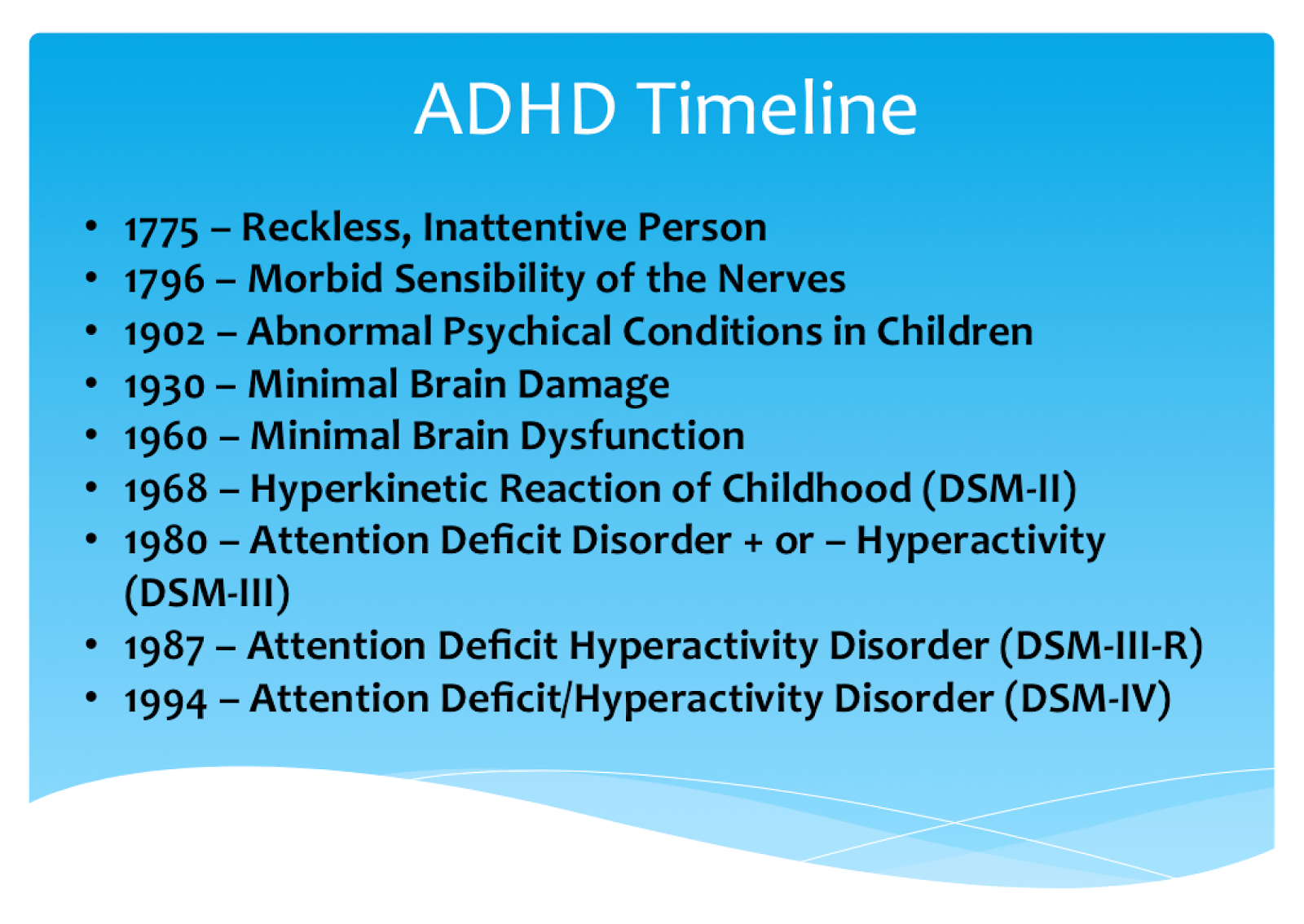 a description of the facts about adhd Quick facts on autism: a brief overview of the signs of autism spectrum disorder as well as treatments, a guide for parents and caregivers.